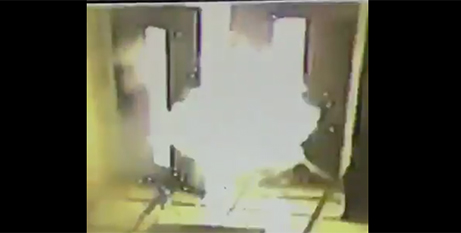 Footage of the explosion was captured by Bishop Castro (Twitter/MonsRamonCastro)