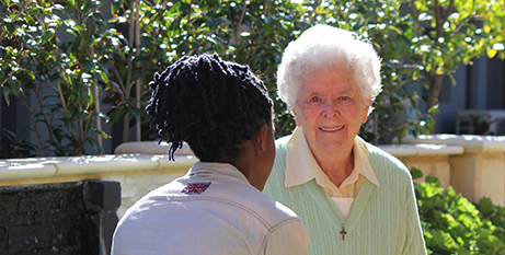 Sr Mollie Wright and Ruby (MercyCare)