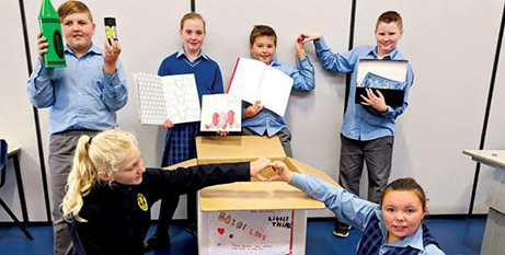 St Peter Chanel pupils and participants have been filling Boxes of Love since 2014 (Hobart Archdiocese)