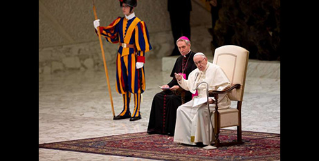 Pope Francis resumed his general audience yesterday following the July break (Daniel Ibáñez/CNA)