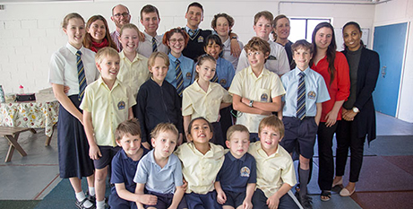 All the students at Angelorum College (The Catholic Leader/Mark Bowling)