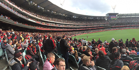Bombers supporters at the MCG (Paul Comini)