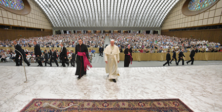 Pope Francis at yesterday