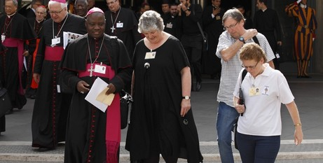 Archbishop Kaigama and Joan Clements