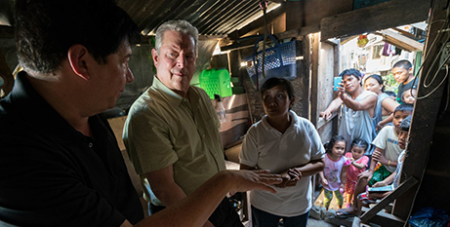 Al Gore (second from left) in An Inconvenient Sequel (IMDB)