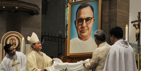 Unveiling of the portrait