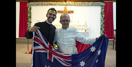 Br Chris de Sousa CRS (left) and Fr Franco Moscone CRS (The eRecord)