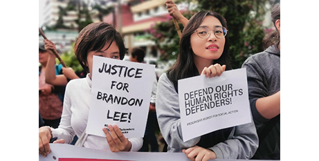 Activists demonstrate in the northern Philippine city of Baguio on August 7(ucanews.com/contributed)