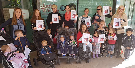 The group will pray the Rosary outside Jackie Trad's office each Friday until October 26 (The Catholic Leader)