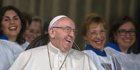 Pope Francis at an Anglican prayer service in February (CNS)