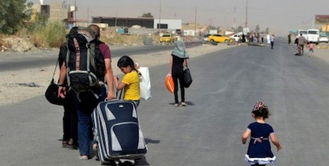 Fleeing Iraqi refugees