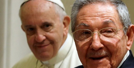 Raul Castro with Francis