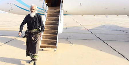 Fr Tom Uzhunnalil lands in Oman (Oman Ministry of Information)