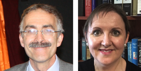 Rev Dr Chris Monaghan CP and Dr Debra Snoddy (Supplied)