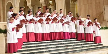 The Sistine Chapel Choir performs in Washington, USA, 2017 (CNS/Dana Rene Bowler/The Catholic University of America)