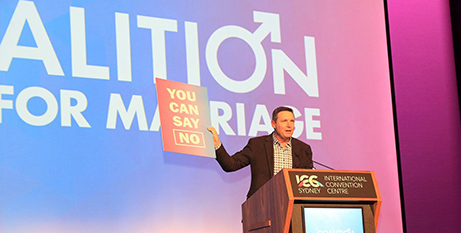 Lyle Shelton of the Australian Christian Lobby at the launch (Facebook/Coalition for Marriage)