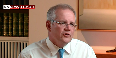 Prime Minister Scott Morrison on Sky News on Monday (Sky News)