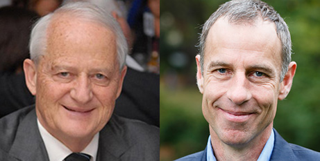 Philip Ruddock (left) and Nick McKim (Twitter/Australian Greens)