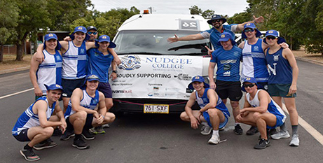 Students from St Josephs Nudgee College raised $10,000 for the Aussie Farmers Foundation (The Catholic Leader)