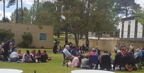 Delegates at the NATSICC conference discuss the Plenary Council in Yarning Circles (NATSICC-Facebook)