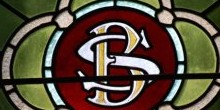 Stained glass from the church