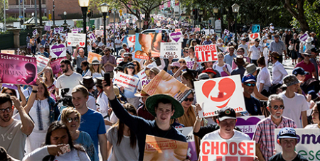 Record crowds turned up for the March for Life in Brisbane on September 1 (The Catholic Leader/Alan Edgecomb)
