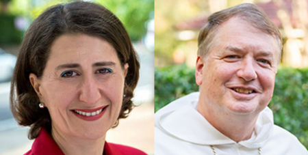 Gladys Berejiklian and Archbishop Anthony Fisher OP (Facebook and ACBC)