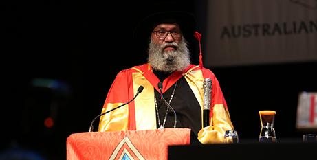 Bishop Suriel addresses the graduation ceremony (Coptic Orthodox Diocese of Melb)