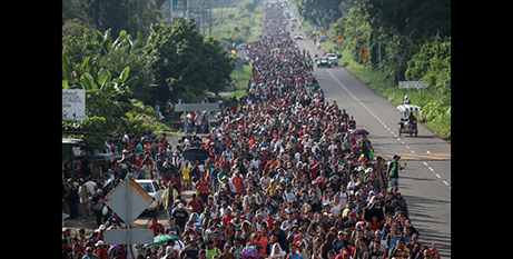 The caravan of migrants from Central America is heading to the US via Mexico (CNS/Adrees Latif, Reuters)