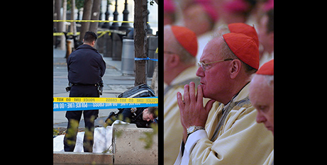 The aftermath of the attack and Cardinal Tim Dolan (America)