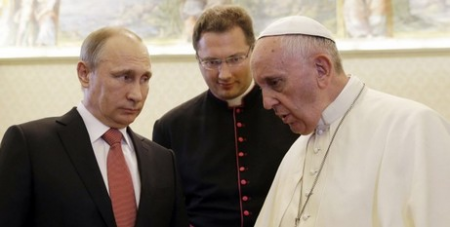 Pope with Putin in June