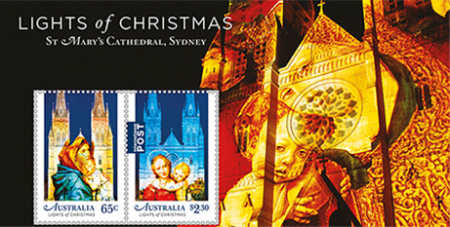 The 2017 religious themed Christmas stamps (Australia Post)