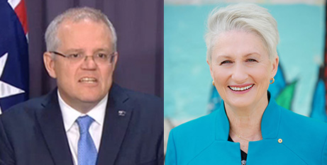 Scott Morrison and Kerryn Phelps (ABC News and Kerryn Phelps)