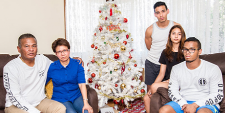 The Morales family (The Catholic Weekly/Giovanni Portelli)