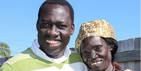 Fr Ladu and his mother