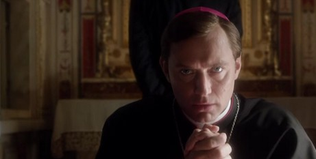 Jude Law plays the Pope