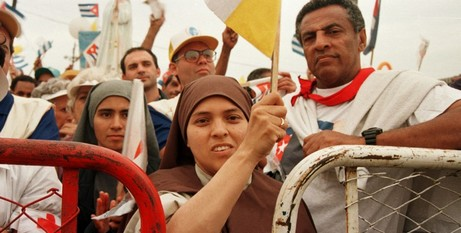Cubans celebrating JPII visit