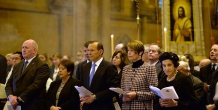 PM Abbott at Mass