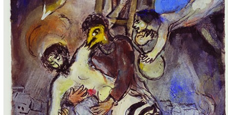 Chagall paints Jesus