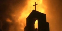 Burning church, Pakistan