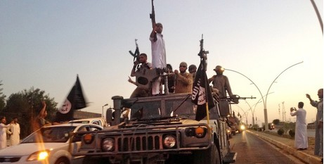 IS fighters in Mosul
