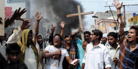 Pakistani Christians protest