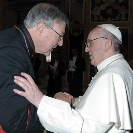 Cardinal Pell  with the Pope