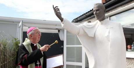 Statue blessed