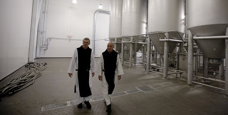 Monks in their brewery