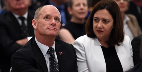 Premier and opposition leader