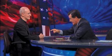 Colbert and James Martin