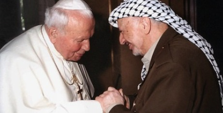 John Paul II with Yasser Arafat
