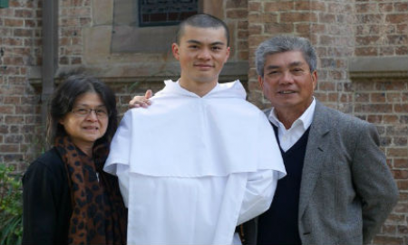 Br Reginald Mary and nhis parents