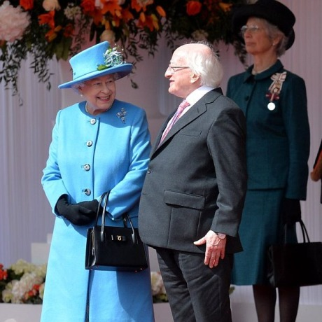 Irish president with the Queen